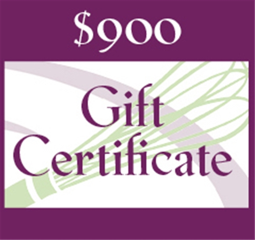 $900 Gift Certificate
