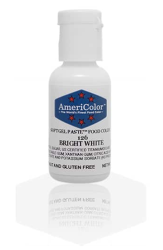 Gel Paste Food Coloring Bright White