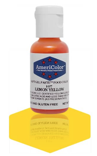 Gel Paste Food Coloring Lemon Yellow