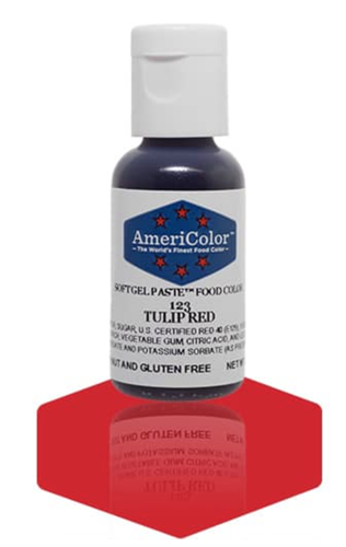 Gel Paste Food Coloring Tulip Red (no taste)