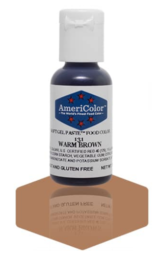Gel Paste Food Coloring Warm Brown