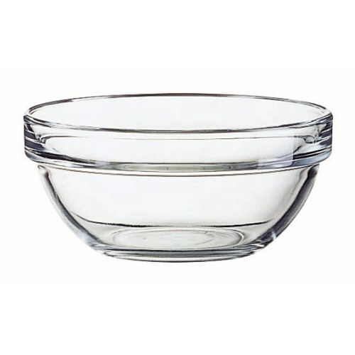 Glass Bowl 4.75-inch Diameter with Stackable Rim