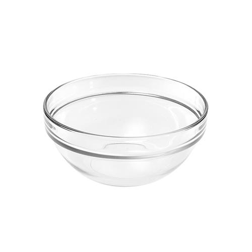 Glass Bowl 3.5-inch Diameter with Stackable Rim