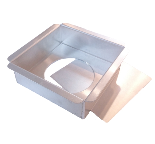 Square Cake Pan with Removable Bottom - 6 x 6 x 2