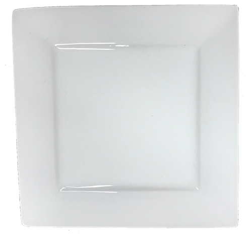 "12"" White Porcelain Square Platter"