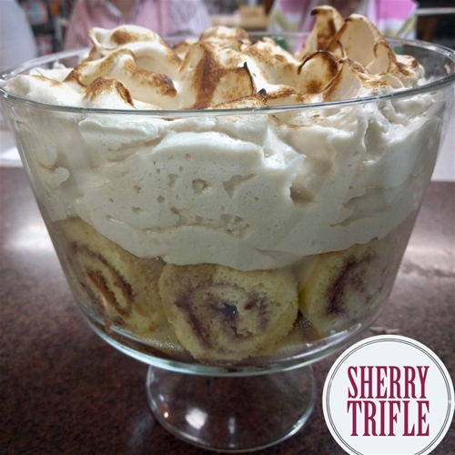 Fruit Trifle Spiked with Sherry