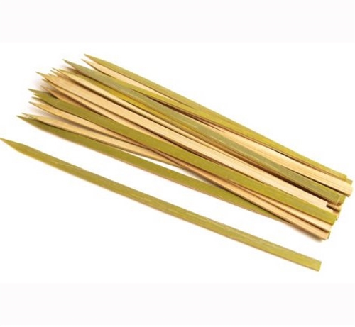 "12"" Natural Bamboo Extra Wide Flat Skewers"