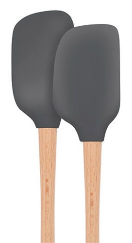 Silicone Mini Spoonula and Spatula Set - Charcoal