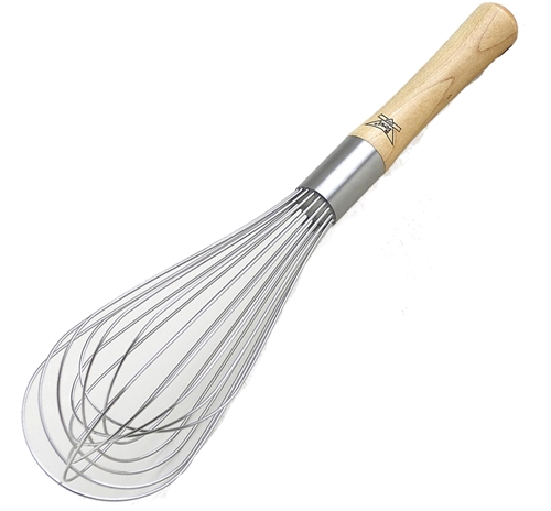 Balloon Whisk 12-inch Stainless with Wood Handle