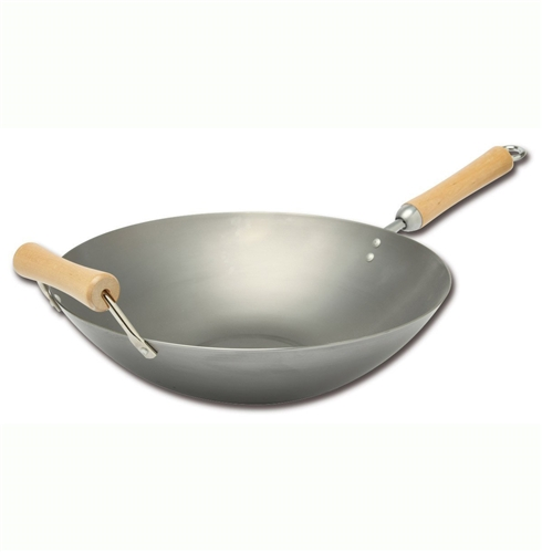 Wok 14 inches with Flat Bottom